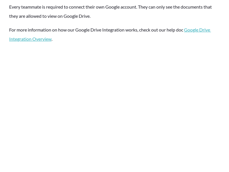 Google Drive Integration - Which documents can my teammates see in the search results?