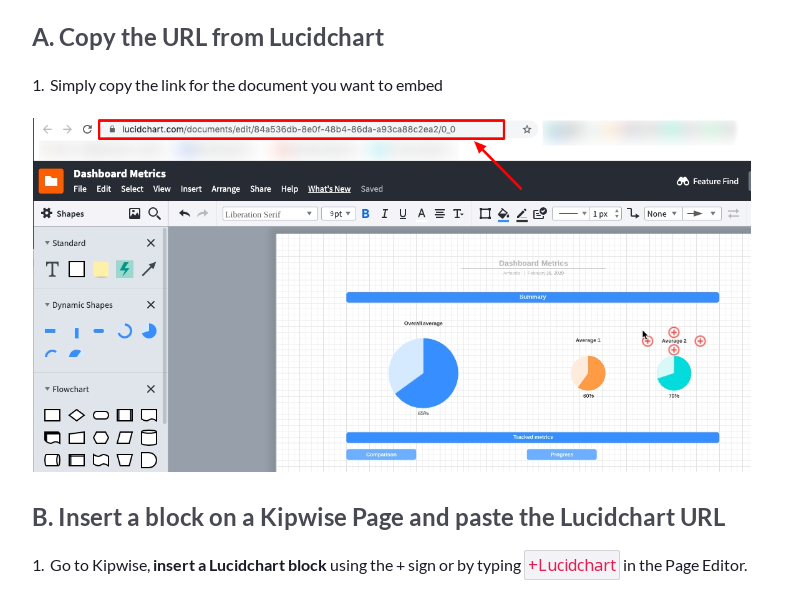 Embed Lucidchart on a Kipwise Page
