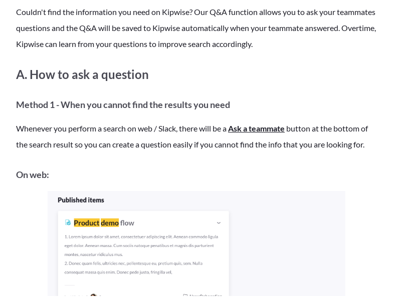 Overview of the Q&A function