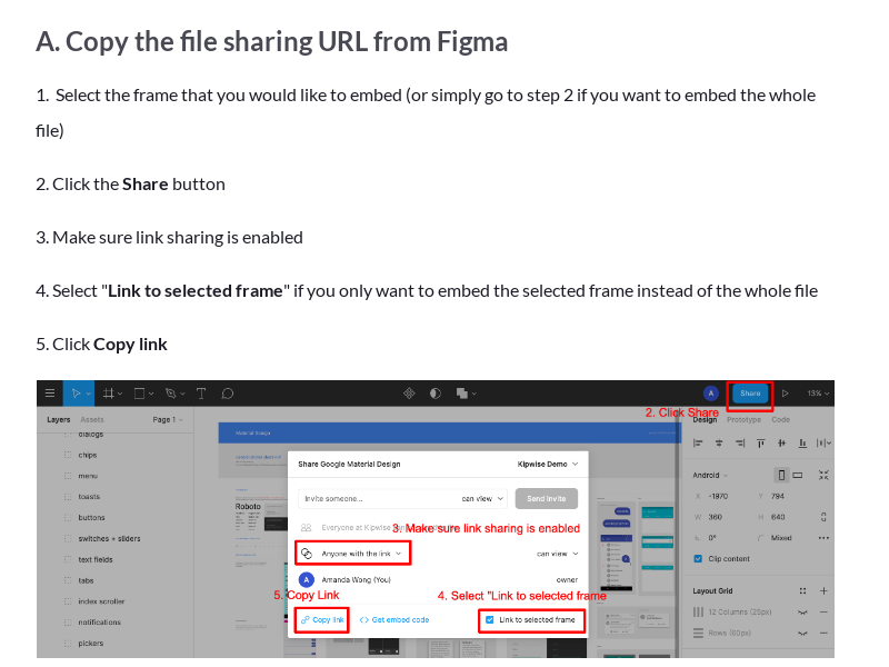 Embed Figma design on a Kipwise Page