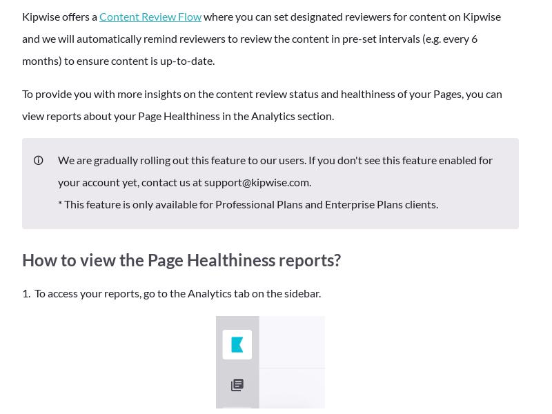 Analytics - Page Healthiness