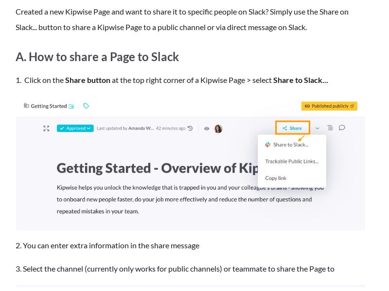Share a Page to Slack