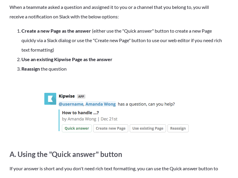 How to answer a question