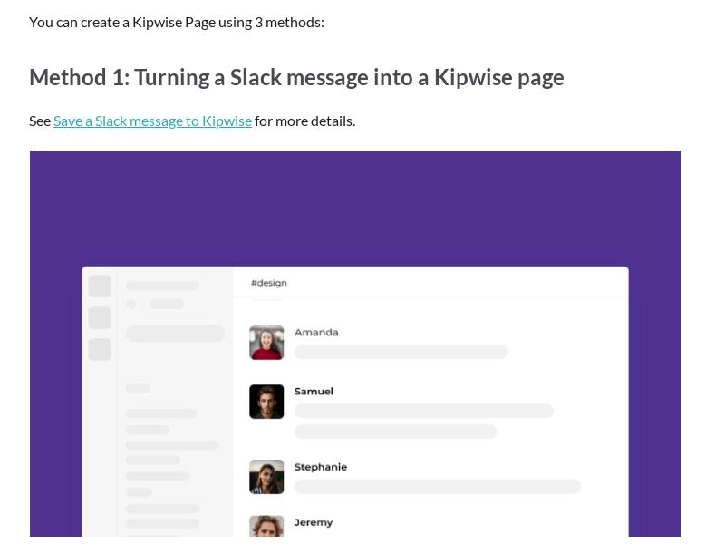 Create a Kipwise Page