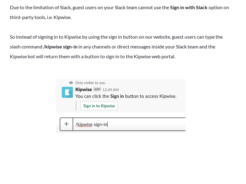 Troubleshooting: Guest users Slack log-in issue
