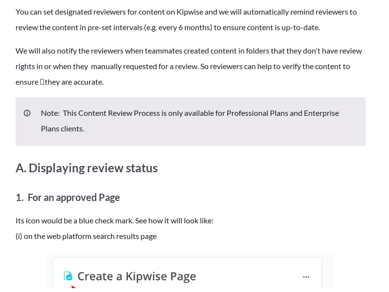 Overview of Content Review Flow